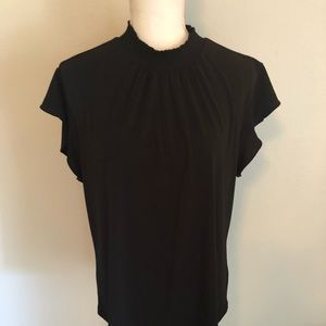 Black Mock Short Sleeve Turtleneck Size XL